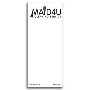 Paper Note Pad 3 1/2 x 8 1/2, 25 pages w/ magnet