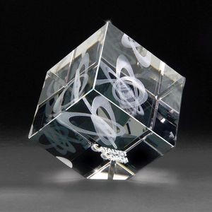3D Crystal Jewel Cube Medium Award