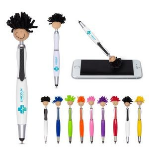 Multi-Cultural MopToppers® Screen Cleaner w/Stylus Pen (Tan Skin Color)