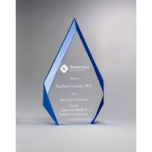 Flame Series Acrylic Award w/ Blue Accented Bevels