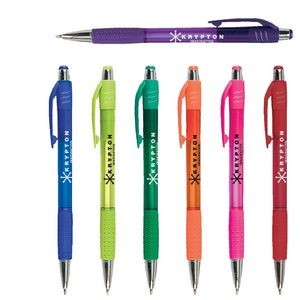 Krypton Translucent Pen w/ Matching Gripper