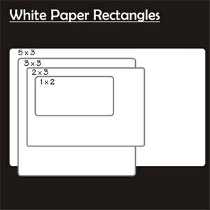 "White Paper inside Decal (2""x3"")"